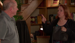 Cathy and Geoff in Coronation Street