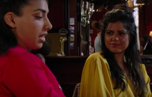 Ash and Iqra in EastEnders