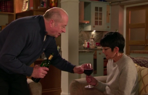 Geoff and Yasmeen in Coronation Street