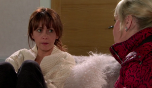 Maria and Beth in Coronation Street