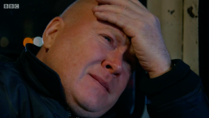 Phil Mitchell after the EastEnders boat crash
