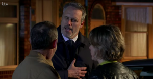 Abi and Kevin and Ray in Coronation Street